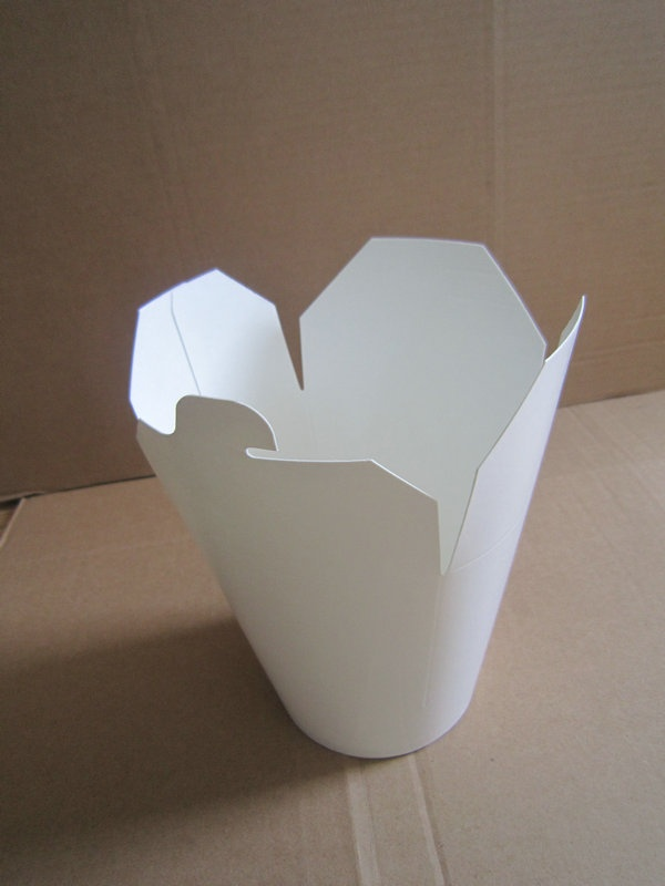 white paper food pail